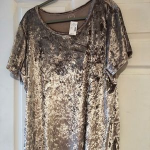 Maurice's Champagne Velvet Top Plus Size 2 New